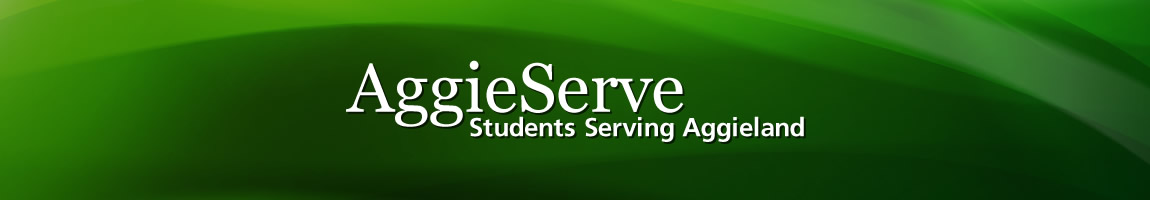 Photo: Get Hooked on Service at AggieServe
